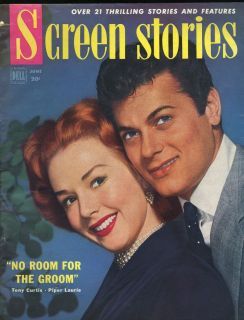 STORIES MAGAZINE PIPER LAURIE TONY CURTIS JUDY HOLLIDAY GLENN FORD