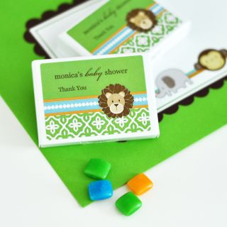 Jungle Safari Theme Personalized Gum Boxes Baby Shower Birthday Party