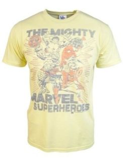 New Authentic Junk Food Mens The Mighty Marvel Super Heroes T Shirt