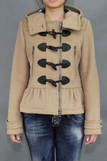 Burberry Brit 11AW Peplum Wool Duffle Coat