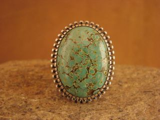 Indian Sterling Silver Turquoise Ring by Kirk Smith Size 9