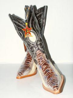 Womens Los Altos Ostrich Western Boots Natural Legging