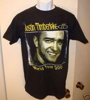Justin Timberlake World Tour 07 Black Shirt Adult Small