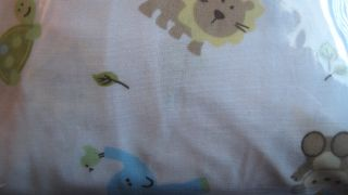 Just Born Jungle Animals Fitted Crib Sheet for Baby Boy Nursery New