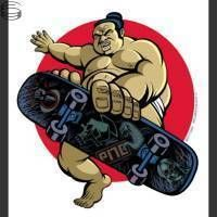 Sumo Skate  Justin Hampton  Sticker Mint PNE New collection w Emek