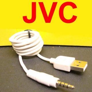 JVC KS U57 KS U27 USB to  MP4 Aux Input Cable 3 5mm