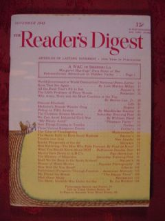 Readers Digest November 1945 MacKinlay Kantor WAC