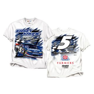 2012 Kasey Kahne 5 Farmers Insurance Speedway White NASCAR Tee Shirt