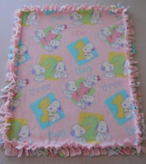 SUPER SOFT DOG CAT PUPPY Tied Fleece Pet Bed Blanket 30x23 BABY SNOOPY