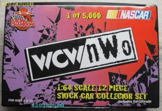 WCW NASCAR Diecast Stock Car 1 64 Collector Set of 12