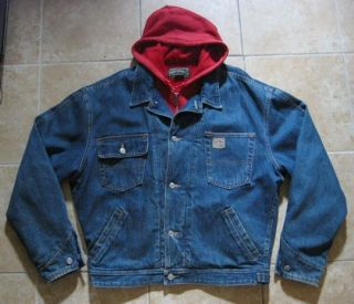 Vintage Ralph Lauren Denim Jacket with Hoodie Sweatshirt Polo Country