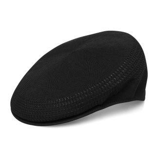 New KANGOL Style Ivy Driving Newsboy Flex Golf Cap Hat Black