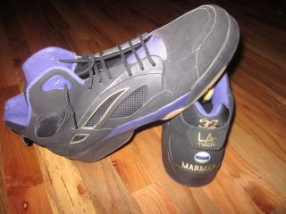 Karl Malone Utah Jazz Game issued Shoes Nice L A Gear