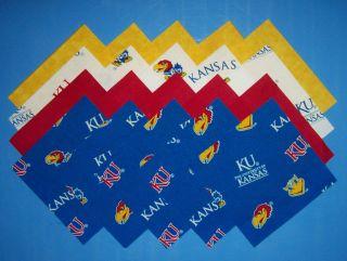 University of Kansas Jayhawk Fabric Squares Quilt We Die Cut 4 U