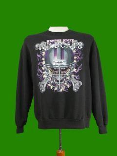 Vintage Kansas State Wildcats Football Sweatshirt L