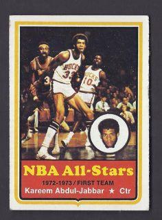 Kareem Abdul Jabbar NBA All Star 1973 74 Topps Card 50