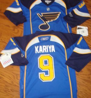 St Louis Blues Kariya Reebok Youth Replica NHL Hockey Jersey Sale