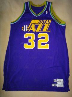 Karl Malone 87 88 Game Used Worn Utah Jazz Road Jersey