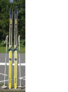 Cross Country 73 Skis 3 Pin 190 cm Poles KARHU
