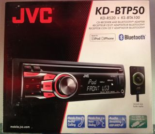 JVC KD BTP50 CD Bluetooth Radio Brand New