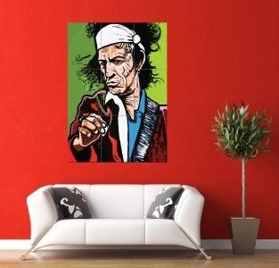 Rolling Stones Keith Richards Giant Wall Art Poster JM084