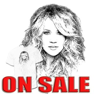 Carrie Underwood T Shirt Kelly Clarkson American Idol Drawings Are