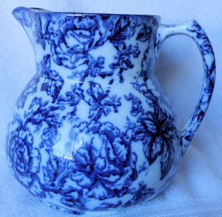 Vintage Keeling & Co Cavendish Pitcher Large Losol Ware Flow Blue