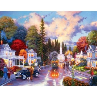 Simpler Times Nostalgia Art Keith Brown 1000 Larger PC Jigsaw Puzzle