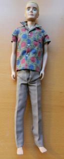 Vintage 1960s Ken Doll Rally Day Shirt Brown Pants Clothes Barbie