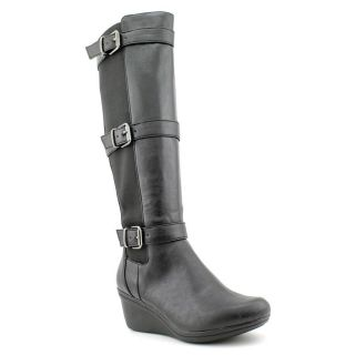 Kenneth Cole Reaction Your Worth Womens Size 9 Black Fashion Knee High