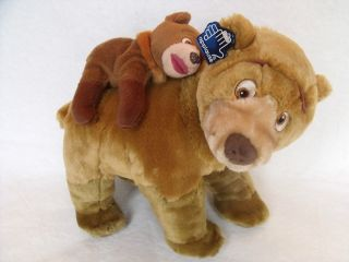 Applause Brother Bear Kenai and Koda 12 Plush Set Disney MWT Stuffed