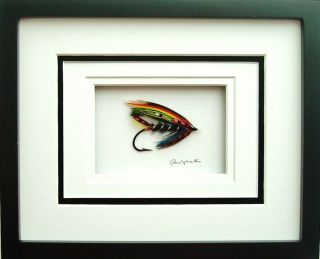 Framed Original Exhibition Salmon Fly Kelsons The Fairy King by