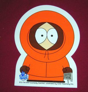 South Park Kenny Peel Back Sticker 1997