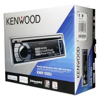 Kenwood KMR 550U Marine Audio CD Player USB Aux Stereo Receiver
