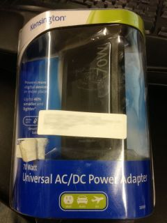 Kensington 70 Watt Universal AC/DC Power Adapter   Black brand new in