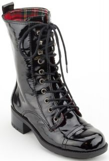 Kensie Girl Women Shoes Kamilian Lace Up Boot 6 Black New in Box