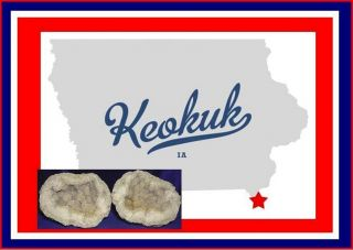 Keokuk Iowa Geode Quartz Unopened Crystals Healing Stones Calcite Rock