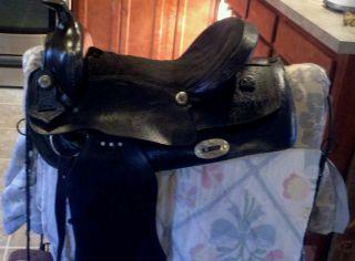 16 Light Weight Black Leather Saddle
