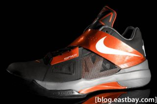 Nike Zoom KD IV Black Orange Men Nike Kevin Durant IV Size 8 10 5 4