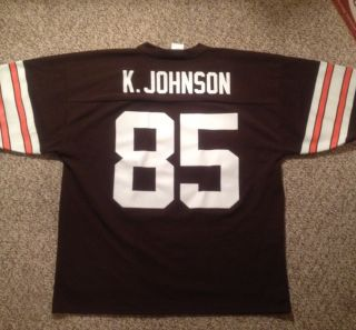 authentic Cleveland Browns KOSAR proline KEVIN JOHNSON NFL jersey L
