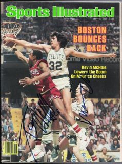 Kevin McHale Maurice Cheeks Signed Sports Illustrated