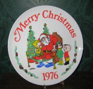 Dennis The Menace Christmas 1976 Plate Hank Ketchum