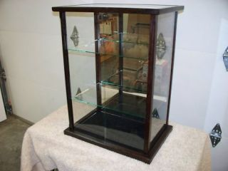 Display Case Model Doll Wood Glass Wenge New