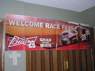 NICE BUDWEISER E NASCAR KEVIN HARVICK BANNER SIGN BEER BUDWISER MAN