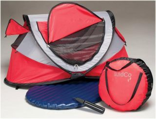 Kidco Peapod Plus Portable Travel Air Bed Tent P205 Cardinal Red