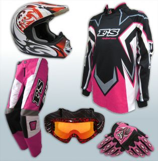 MX Youth Jersey Pants Gloves Helmet AS1698 Motocross Dirt Bike Gear