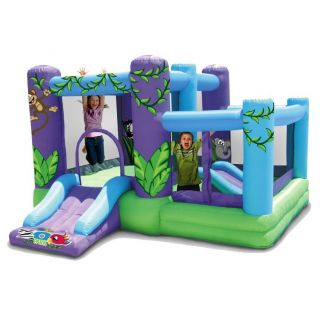 ZOO THEME CHILD KIDS INFLATABLE AIRBLOWN BOUNCE BOUNCER HOUSE SLIDE
