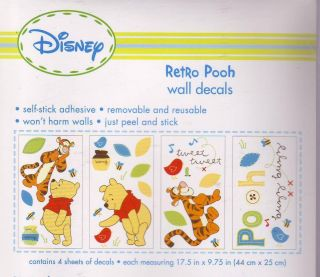 Disney Retro Pooh Wall Decals by Kids Line