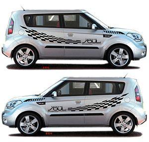 Kia Soul Racing Fashion Decal Big Sticker