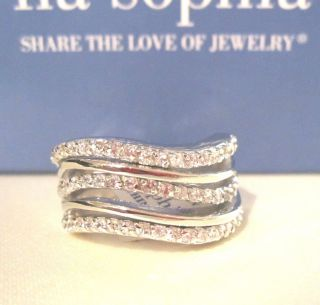 Lia Sophia Kiam  Stellar  Silver Rhinestone Ring 698 Sz 7